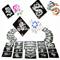 Wholesale Temporary Glitter Tattoo Stencils Tattoo Template For Flash Body Art Paint With Mixed Designs