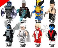 al por mayor magneto x men-PG8019 Marvel Avengers Superhéroes X-Men Daken Magneto Arco Ángel Wolverine Nightcrawler Apocalypse Storm Toys