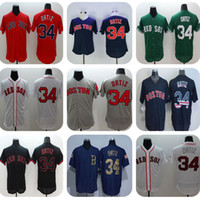 Wholesale 2016 Mens New Fabric Flexbase Version David Ortiz Jersey Color Gray Red White Green Navy Heat sealed Tagless Jerseys