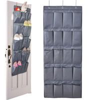 Wholesale 20 Pockets Door Hanging Holder Shoe Hanger Organiser Shoe Rack Wall Storage Bag