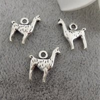 alpaca accessories - 17 mm Ancient vintage silver jewelry accessories animal Llama charms DIY copper alloy materials and selling handmade metal Alpaca Pendant