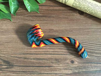 acrylic spoons - Glass Spoon pipe heady glass sherlock pipes glass twisted colored hand pipes glass smoking pipes