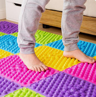 Wholesale NEW TPE Health Care explosion pebbles foot massage mat Body Massage Mat Ease Combat Stress Sore Muscles Sleep Deprivation Colors Easy Take