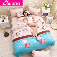 Wholesale Bedding Set Sheet Bedding Cotton Print Bed Set Comforter Duvet Cover Twin Full Queen King Size FB002