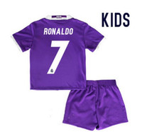Wholesale Real madrid Kids Soccer Jersey RONALDO home away JAMES BALE RAMOS ISCO KROOS Real madrid childrens soccer jersey football shirts