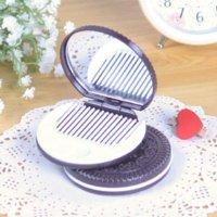 Wholesale 3 x Cute Cookie Shaped Design Mirror Makeup Chocolate Comb comb mirror mirror comb