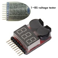 Wholesale 1 High Quality Voltage Buzzer Alarm S Lipo Li ion Fe Battery Voltage IN1 Tester Indicator Checker