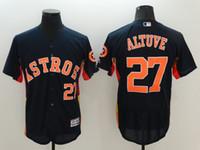 Wholesale Men s Houston Astros Jose Altuve Blue Flex Base Player Jersey