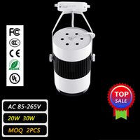 Wholesale LED Track Lighting W30W Cloth Light Black White Shell Led Ceiling Light Led Spotlight Led Projection Lamp Wall Lamp Rail Lighting