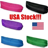 air travel usa - USA Stock Colors Fast Inflatable Sleeping Bag Lazy Sleeping Bed Folding Beach Sleep Bed Outdoor Camping Air Sleep Sofa