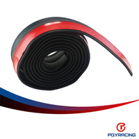 Wholesale PQY RACING M ROLL MM WIDTH Car Front Bumper Lip Splitter Protector Body Spoiler Valance Chin Rubber Black PQY FBL11
