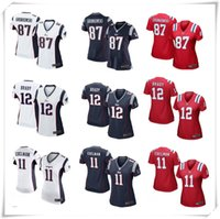 american football england - Complete Logo name Stitched Lmited Women Tom Brady Edelman Gronkowski New England Patriot jerseys football Sport
