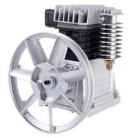 ew alumínio 3HP Air Compressor Bomba Cabeça Motor Pistol gêmeo