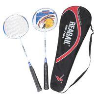 Wholesale 2Pcs Training Badminton Racket Racquet Carry Bag Sport Equipment Durable Lightweight Aluminium Alloy In outdoorSport Equipment