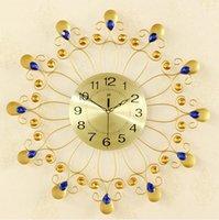 al por mayor pc tranquila-1 tipo de Europa de las PC que restaura el reloj de cuarzo determinado del taladro del oro de las maneras antiguas / el reloj del cuarzo de la sala de estar / el reloj grandes de la manera