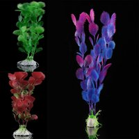 automatic water feeder for plants - Hot Selling Mix Colors Artificial Water Plants for Fish Plastic Decoration Ornament
