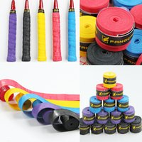 Wholesale Absorb Sweat Stretchy Adhesive Anti Slip Breathable Holes Racket Bat Racquet Overgrip Roll Squash Handle Tape For Sport Free DHL E577L