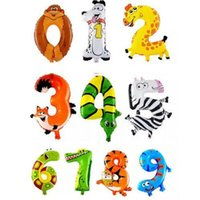 balloon animals flower - 1PCS blow up inch Animal Number Foil Balloons Kids Party Decoration Ballon Happy Birthday Wedding Decoration