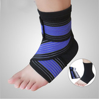 Wholesale DHL Professional Sports Ankle Strain Wraps Bandages Elastic Ankle Support Brace Protector For Fitness Running