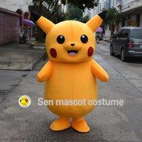 Wholesale 2016Top qualité Deluxe Pikachu Mascot Costume Cartoon Costumes de caractère mascotte Costume fantaisie Party Dress Suit