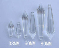 Wholesale 100pcs mm mixed color crystal U drop pendant prism parts prism system prism prism