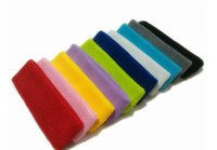 Wholesale Men and women cotton yoga basketball sweat headband protect breathable gym stretch head band Hair