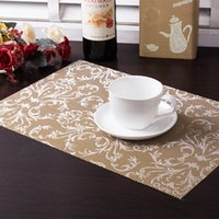 bamboo dining sets - set pvc square dining table placemats gold heat insulation table mat coaster bowl pad waterproof table cloth pad