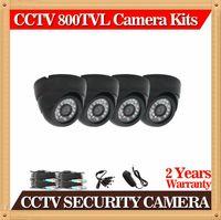 CIA-Nueva llegada, venta caliente mini CMOS 800tvl 24leds LED blanco cúpula cámara CCTV cámara de seguridad interior, incluido cable de vídeo 20m CCTV-4 *