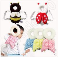 Wholesale 5 Designs cm Baby Head Protection Pad Toddler Headrest Pillow Baby Neck Cute Wings Nursing Drop Resistance Cushion CCA5131
