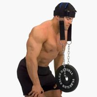 Wholesale Head weight hat Neck shoulder power training band New Strength exercise support nylon steel chain belt