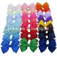 Wholesale You pick ten quot Baby Ribbon Bows WITH Alligator Clip For Baby Girls Boutique Hair Bow Accessories Kids Barrettes Hairpins