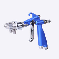 Wholesale high quality airbrush HVLP spray gun air compress paint pistol double nozzle two component
