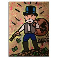 abstract art ideas canvas - Hand painted Hi Q modern wall art home decorative abstract oil painting on canvas Alec monopoly gun down idea Unframed