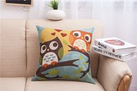 Cheap Cute Owl Pillow Case Best Cute Owl cushion Case