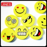 Wholesale School supplies office stationery cute Smiling face eraser Funny pencil rubber cartoon eraser