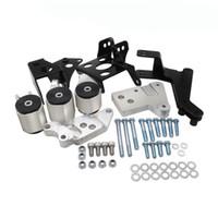 aluminum motor mounts - Aluminum racing A K SERIES ENGINE MOUNT FOR HONDA CIVIC EKK2 Chassis MOTOR SWAP KIT color silver