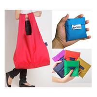 Wholesale Eco Reusable Portable Shopping Bag Grocery Handbags Tote Environmental Folding Holders Bags