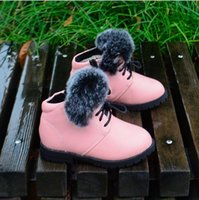 child boots - Whole Sale Winter Boots for Girls Snow Boots for Kids Children Boots with Rabbit Fur Snow Boots High End Boots Pairs