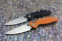 alloy dc - 2016 DC design DC A6 Shirogorov folding knife real D2 Satin Blade Black Orange G10 Handle with DC nylon sheath Camping tactical EDC tools