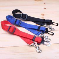 basic car sales - In car Pet Safety Belt Pet Suppliers Nylon Seat Belt for Dog Cat Leash Blue Black Red Hot Sale