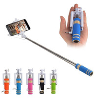 Wholesale Portable Wired Remote Control MINI Selfie Stick Monopod for Smart Phone iPhone Samsung With Retail Box