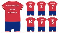 baby clothes soccer - Free shippment baby cotton Atletico Madrid soccer baby jumpsuit baby oneise clothes GRIEZMANN F TORRES for M