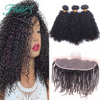 beauty pie - 9A Malaysian Kinky Curly Hair Weaves With Lace Frontal x4 Beauty Products Kinky Curly Virgin Human Hair Bundles With Full Top Frontal Pie