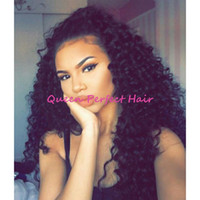 beautiful afro - Fast Hot Selling Afro Kinky Curly Synthetic Wigs With Baby Hair Kinky Curly Synthetic Lace Front Wig For Beautiful Black Women