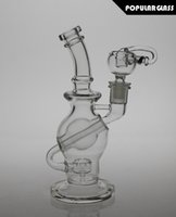 ball joint pipe - 8 quot tall FC glass ball rigs FC recycler oil rigs ball glass water pipes smoking water bong Female joint size mm FC Ball8