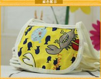 Wholesale Maternal and child products EVA green waterproof layer waterproof bibs Children s cartoon cotton baby bibs