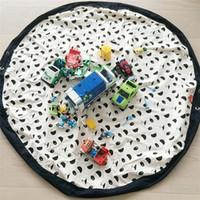 El organizador del bolso juguetes grandes bolsa de almacenamiento de bolsa de vivienda alfombra saco Juguetes bolsas INS populares dibujos animados de juguete animal del bebé Bolsas 395