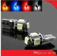 Wholesale T10 Car Bulbs Wedge SMD high intensity LED Light bulbs W5W White Size Color White