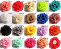 beautiful garments - 5pcs colors cm Handmade Beautiful Lace Yarn Flower for Baby Girls DIY Garments Headband Hair Accessories