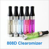 Wholesale 808D Atomizer E smart clearomizer Threading e cigarette e smart e cig D and clearomizer fit for CE4 ego EVOD battery
